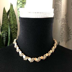 Vtg Trifari Gold Tone Collar Statement Necklace